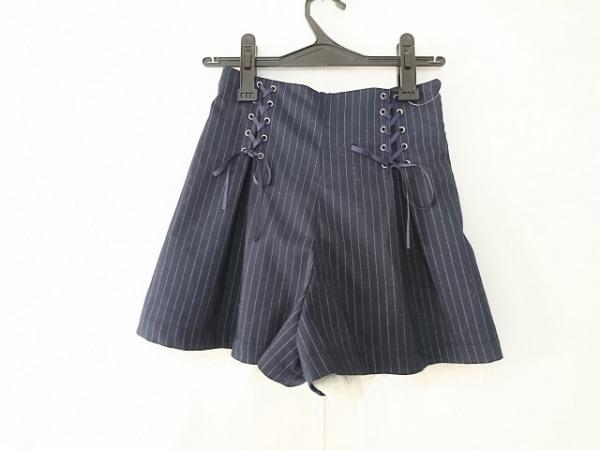 シークレットハニー ショートパンツ サイズ2 M レディース ネイビー×白