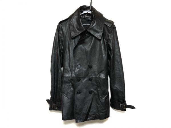 Roen(ロエン) トレンチコート サイズL メンズ美品  黒 レザー/春・秋物