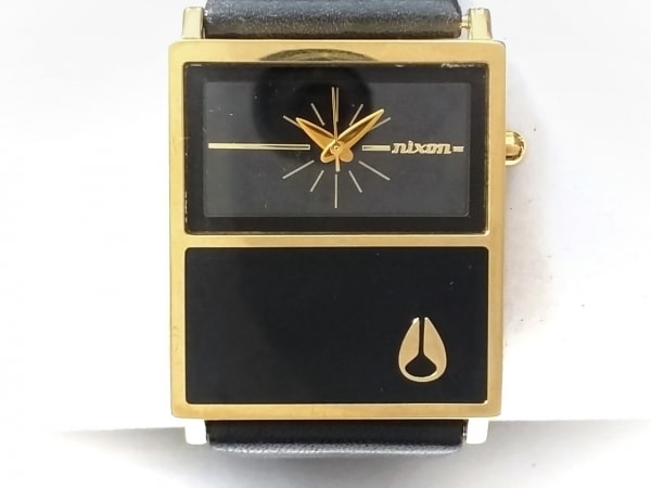 NIXON(ニクソン) 腕時計 THECHALETLEATHER - ボーイズ 黒