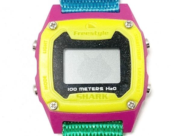 Freestyle(フリースタイル) 腕時計美品  SHARK 101338・A126-12 レディース 黒