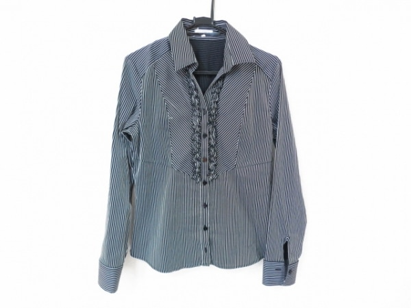 NARACAMICIE(ナラカミーチェ) 長袖シャツブラウス サイズ3 L レディース美品  黒×白