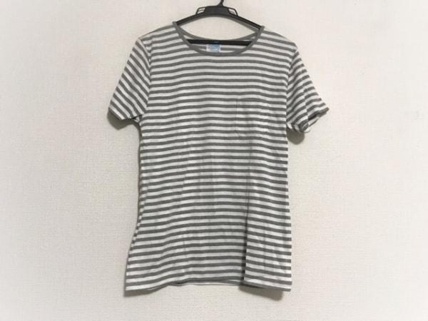 Letroyes(ルトロワ) 半袖Tシャツ サイズM メンズ美品  白×グレー ボーダー