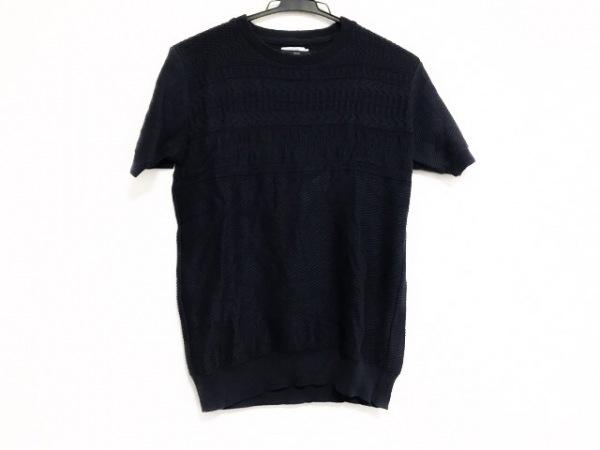 gim(ジム) 半袖セーター サイズM レディース美品  ネイビー