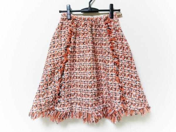 チェスティ ロングスカート サイズ0 XS レディース美品  オレンジ×白×マルチ