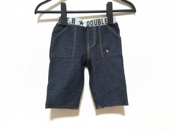 ミキハウス パンツ サイズ100 メンズ ダークネイビー×グレー DOUBLE.B/刺繍/クマ