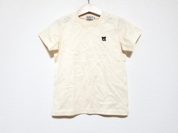 miki HOUSE(ミキハウス) 半袖Tシャツ サイズ100 メンズ美品  ベージュ×黒×レッド