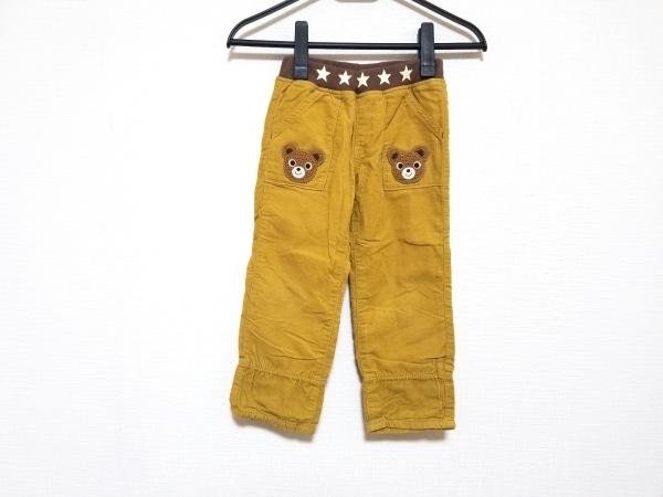 miki HOUSE(ミキハウス) パンツ サイズ100 メンズ ライトブラウン×ダークブラウン