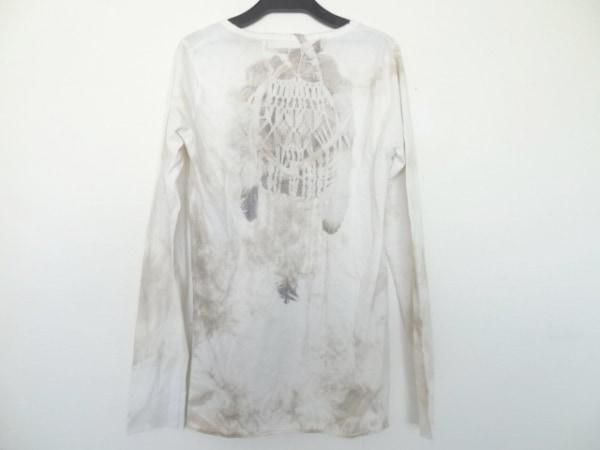 G.O.A/goa(ゴア) 長袖Tシャツ サイズF レディース アイボリー×ベージュ×グレー