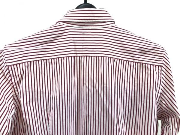 ラルフローレン 長袖シャツブラウス レディース美品  白×レッド ストライプ