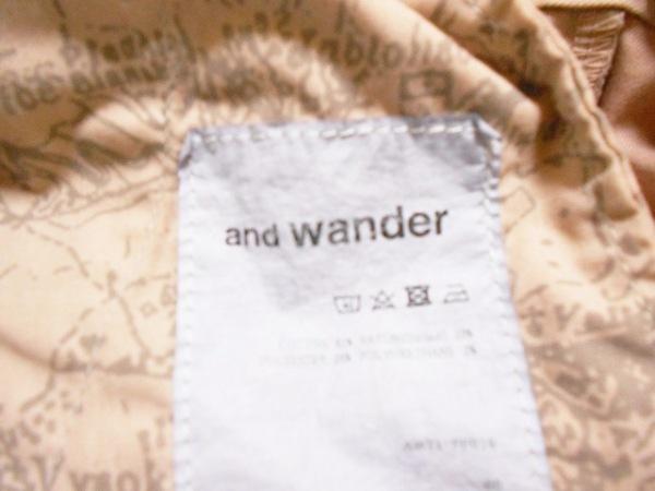 and wander(アンドワンダー) パンツ サイズ00 XS レディース美品  ピンク