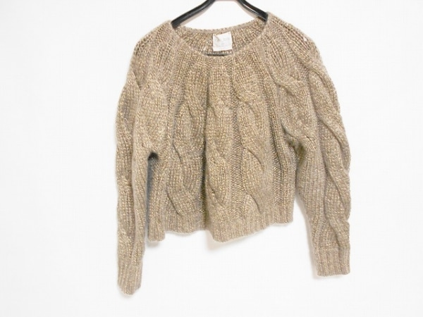 フォルテフォルテ 長袖セーター サイズ0 XS レディース美品  グレー ラメ