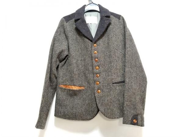 パラスパレス ジャケット サイズ2 M レディース美品  ダークグレー×黒 ヘリンボーン