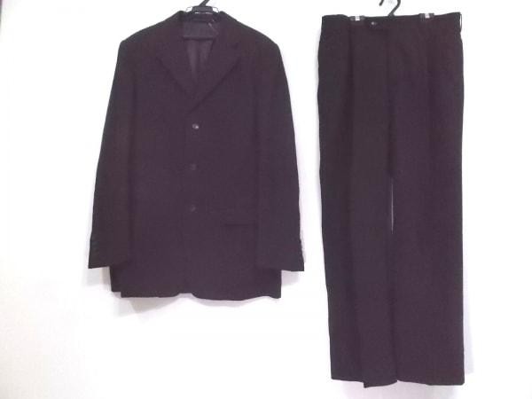 コムサデモードメン シングルスーツ サイズ4 XL メンズ 黒 肩パッド