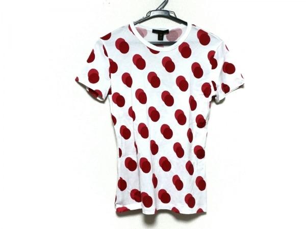 LOUIS VUITTON(ルイヴィトン) 半袖Tシャツ サイズXS レディース美品  白×レッド