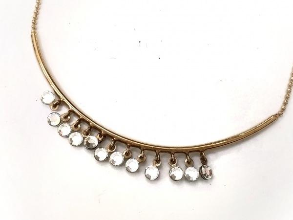 AGATHA(アガタ) ネックレス美品  金属素材×ジルコニア ゴールド×クリア