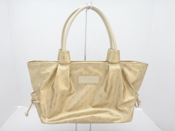 GHERARDINI(ゲラルディーニ) ハンドバッグ ゴールド PVC(塩化ビニール)×レザー