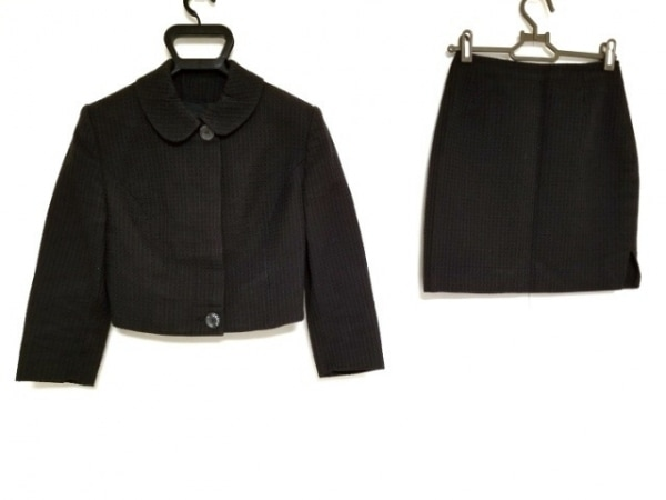 ヴェルサーチジーンズ スカートスーツ サイズ24  38 レディース 黒