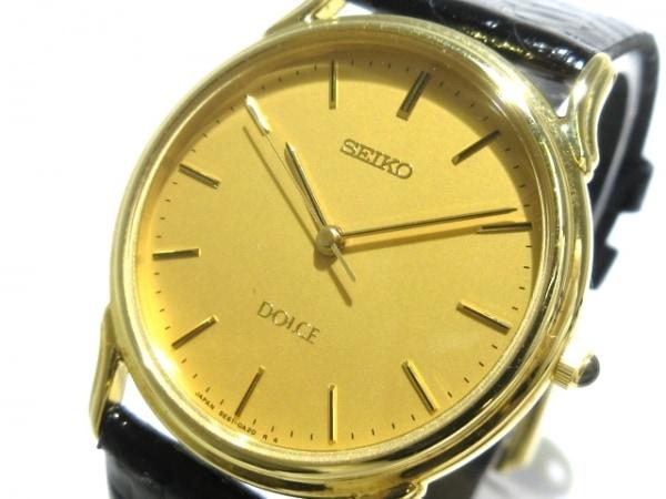 SEIKO(セイコー) 腕時計 DOLCE 5E61-0A10 メンズ 型押し加工/18KT ゴールド