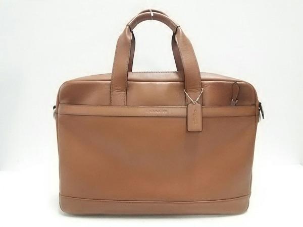 コーチ ビジネスバッグ美品  ハドソン スムースレザー ブリーフ F71561 ブラウン
