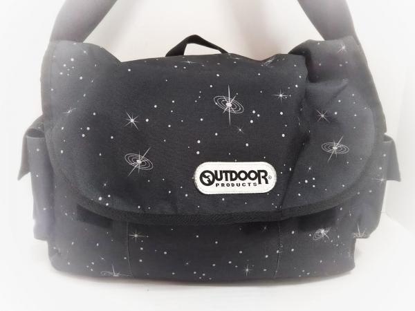 OUTDOOR(アウトドア) ショルダーバッグ美品  黒×白 ナイロン