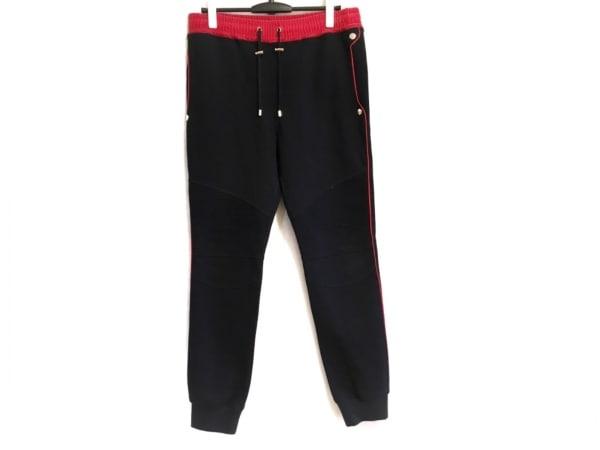 BALMAIN(バルマン) パンツ サイズXL メンズ ダークネイビー×レッド