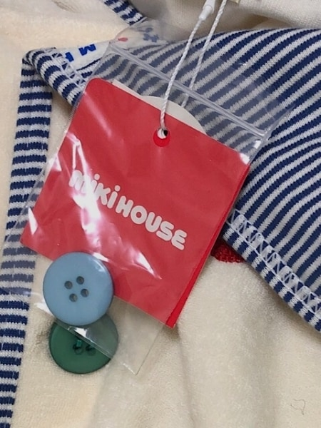 miki HOUSE(ミキハウス) ポンチョ サイズF ユニセックス美品  アイボリー×マルチ