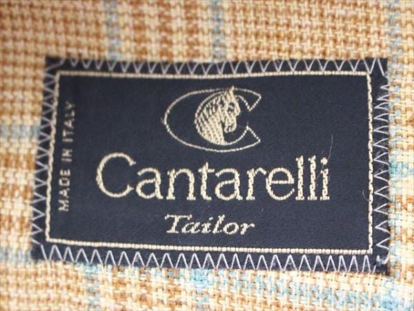 Cantarelli(カンタレリ) ジャケット メンズ イエロー×ブラウン×グリーン チェック柄