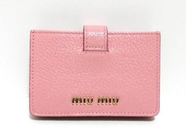 miumiu(ミュウミュウ) カードケース美品  - 5MC280 ピンク×ライトピンク レザー