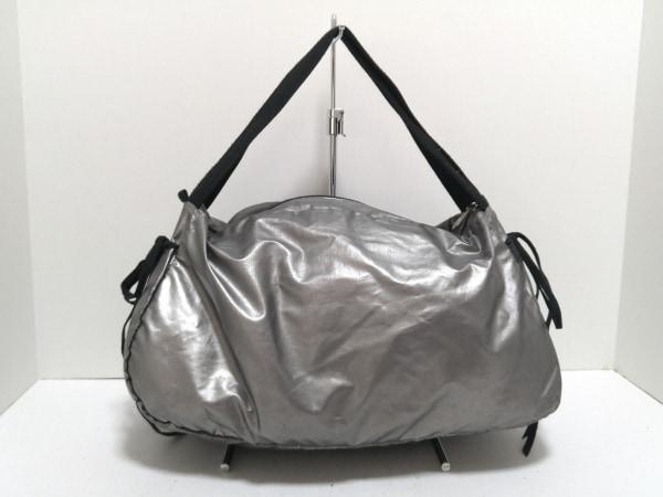 jack gomme(ジャックゴム) ハンドバッグ シルバー×黒 化学繊維