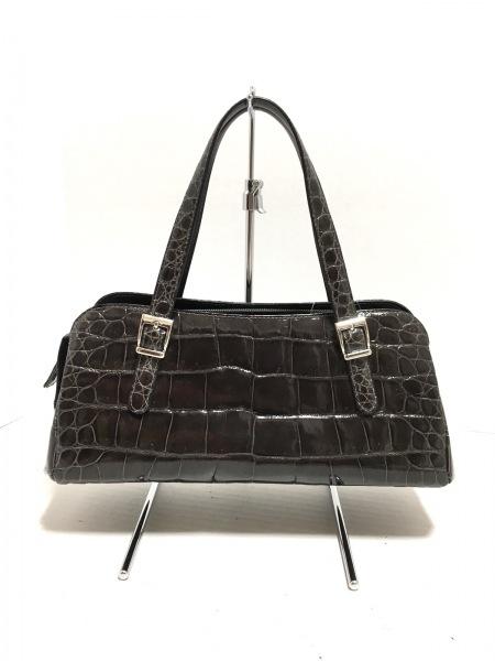 JRA(ジェイアールエイ) ハンドバッグ - - ダークグレー クロコダイル