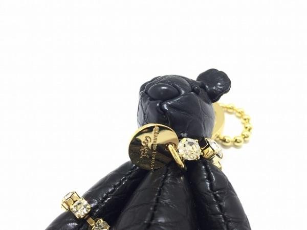 レザージュエルズ キーホルダー(チャーム)美品  - - 黒×ゴールド クマ