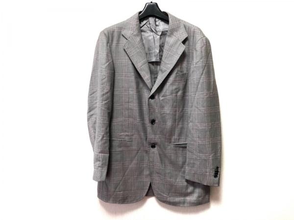 リングジャケット ジャケット サイズ50 メンズ ベージュ×ブラウン×ピンク
