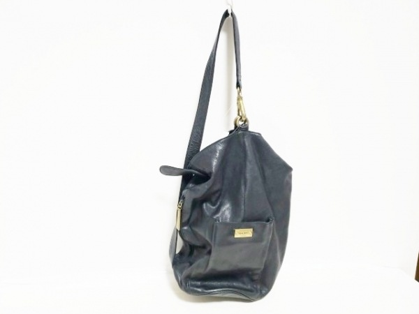 DKNY(ダナキャラン) ワンショルダーバッグ 黒 レザー