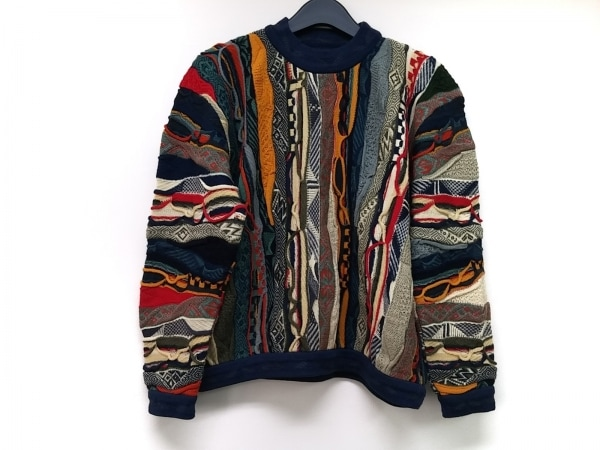 COOGI/CUGGI(クージー) 長袖セーター サイズS レディース ネイビー×マルチ