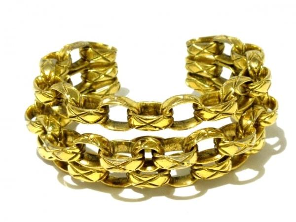 CHANEL(シャネル) バングル 金属素材 ゴールド マドモアゼルチェーン