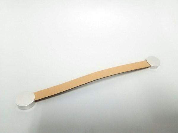 エルメス 小物美品  マリス 162046G ブラウン×シルバー ヴォーエプソン×金属素材