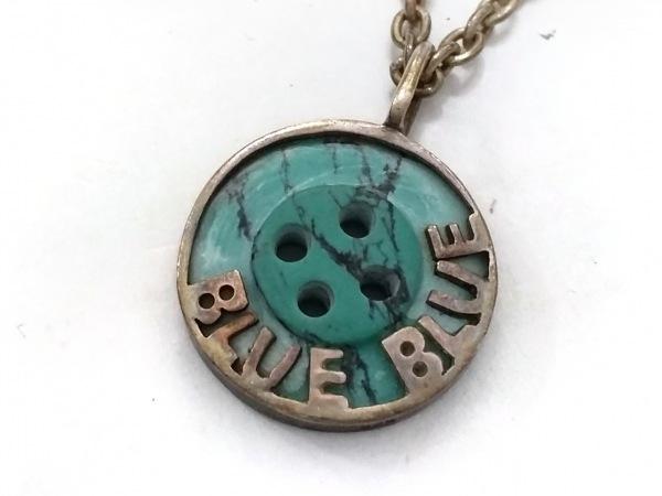 BLUEBLUE(ブルーブルー) ネックレス 金属素材×ターコイズ ゴールド