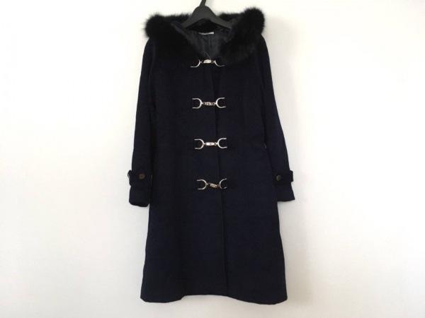Cara(カーラ) コート サイズM レディース美品  ネイビー 冬物