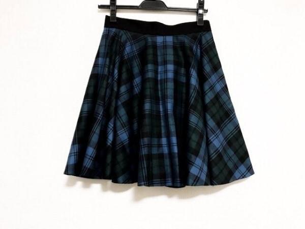 O'NEIL(オニール) スカート サイズ8 M レディース美品  ブルー×ダークグリーン×黒