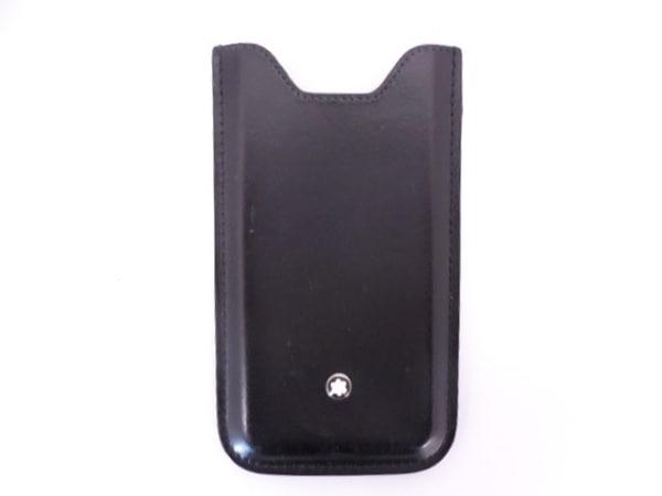 MONTBLANC(モンブラン) 携帯電話ケース 黒 スマートフォンホルダー レザー