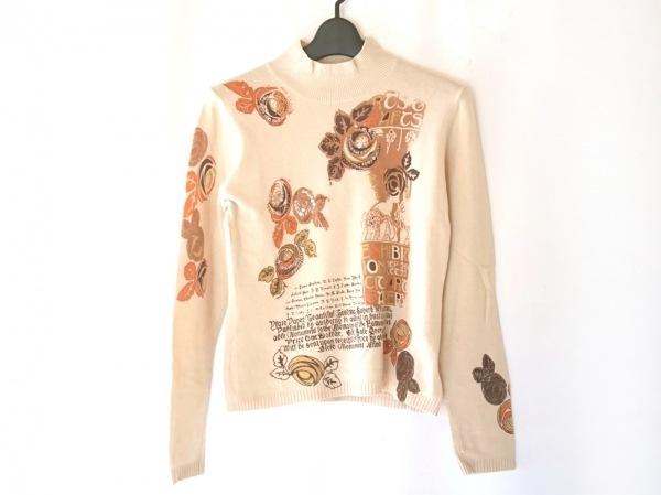 ロッサ 長袖セーター サイズ42 L レディース美品  ベージュ×ブラウン×オレンジ