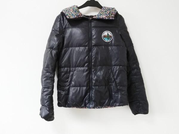 ロデオクラウンズ ダウンジャケット サイズ2 M レディース 黒×ピンク×マルチ