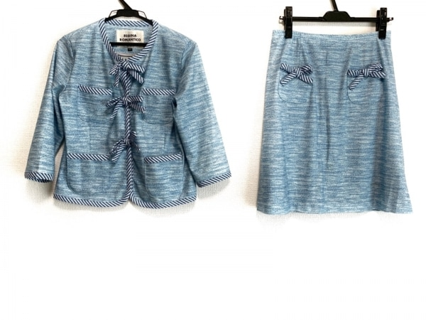 レジィーナロマンティコ スカートスーツ サイズ38 M レディース ウエストゴム/リボン