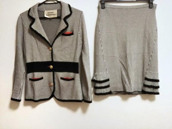 レジィーナロマンティコ スカートスーツ サイズ38 M レディース美品  白×黒