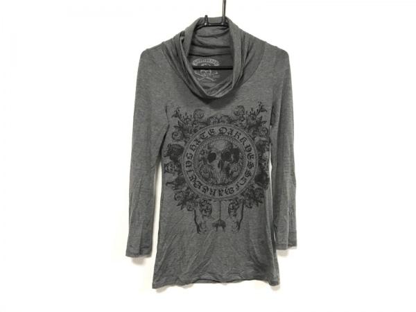 Roen(ロエン) 長袖Tシャツ サイズ38 M レディース グレー×黒 タートルネック/スカル