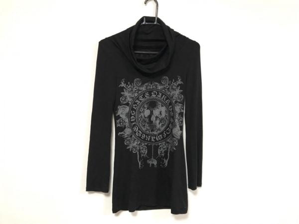 Roen(ロエン) 長袖Tシャツ サイズ38 M レディース 黒×グレー タートルネック/スカル