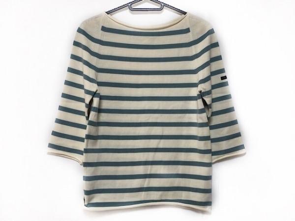 YURI+PARK(ユリパーク) 七分袖セーター レディース美品  アイボリー×グレー