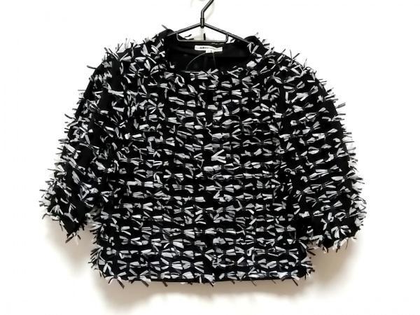 49アベニュージュンコシマダ ジャケット サイズ40 M レディース美品  黒×白 半袖