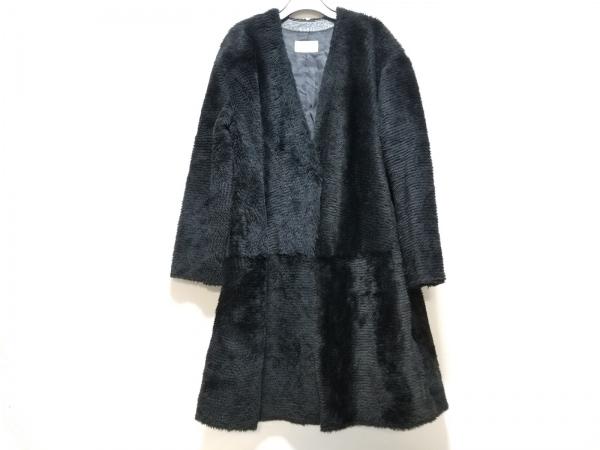 ESTNATION(エストネーション) コート サイズ38 M レディース 黒 羊革(ムートン)/冬物