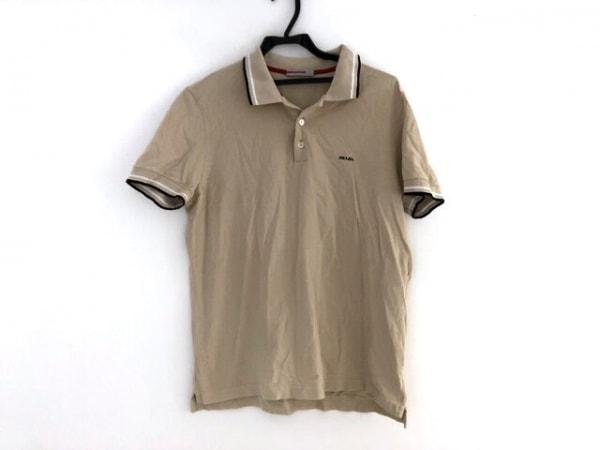 PRADA SPORT(プラダスポーツ) 半袖ポロシャツ サイズL メンズ ベージュ
